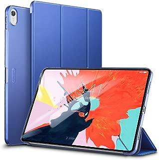 ESR iPad Pro 11 ケース 2018年秋モデルにフィット[Apple Pencilのペアリングとワイヤレス充電に非対応] iPad Pro 11 カバー 軽量 薄型 レザー 三つ折スタンド オートスリープ機能 2018年秋発売のiPad Pro 11インチ専用(ネイビーブルー)