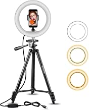 10'' Ring Light Extendable 55'' Tripod Stand, MamaWin...