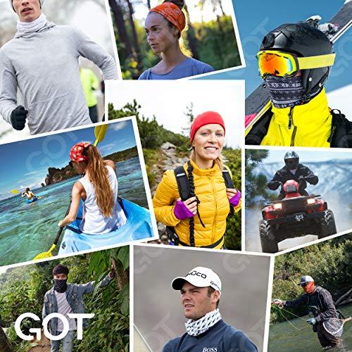 GOT Sports American Flag Bandana - Works as Face Cover, Headband, Neck Gaiter, Balaclava