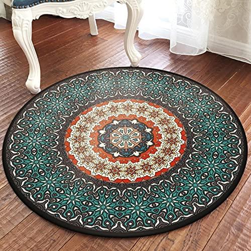 Alfombra de Estilo Popular Turco, Sala de Estar, Mesa de Centro, Alfombra de Mandala, sofá, mesita de Noche, alfombras Creativas para el Piso, alfombras para decoración de Dormitorio, AX-02-D 120