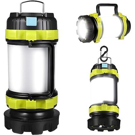 2 x Mini LED Lantern Portable Camping Tent Bright Torch Light Lamp Pair