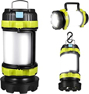 LED Camping Lantern, Rechargeable Portable Lantern Flashlight, 6 Modes, 3600mAh Power Bank, Two Way Hook of Hanging, Perfe...