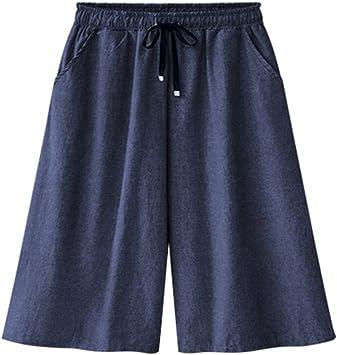 Bermudas Para Mujer Pantalones Cortos Baggy Pantalones Talla Grande Bermuda Cortos Amazon Es Deportes Y Aire Libre