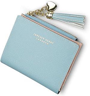 [HERECOMES] レディース ミニ財布 財布薄型 二つ折り 財布シンプル レディース財布 ウォレット 小さい お財布