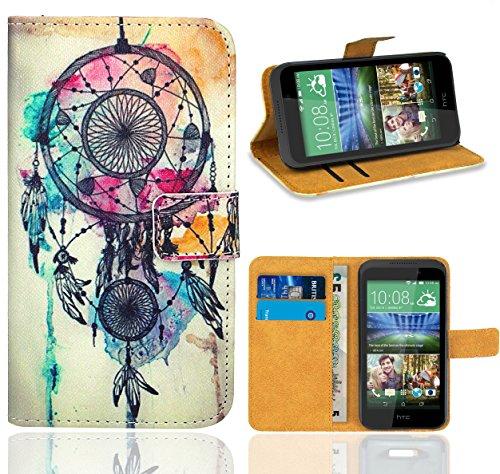 HTC Desire 320 Handy Tasche, FoneExpert Wallet Hülle Flip Cover Hüllen Etui Ledertasche Lederhülle Premium Schutzhülle für HTC Desire 320