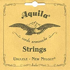Aquila Model 7U Concert Ukulele Nylgut Strings Regular Tuning: G C E A Key of C Greater resistance to wear under tension, compared to gut strings! Made in Italy