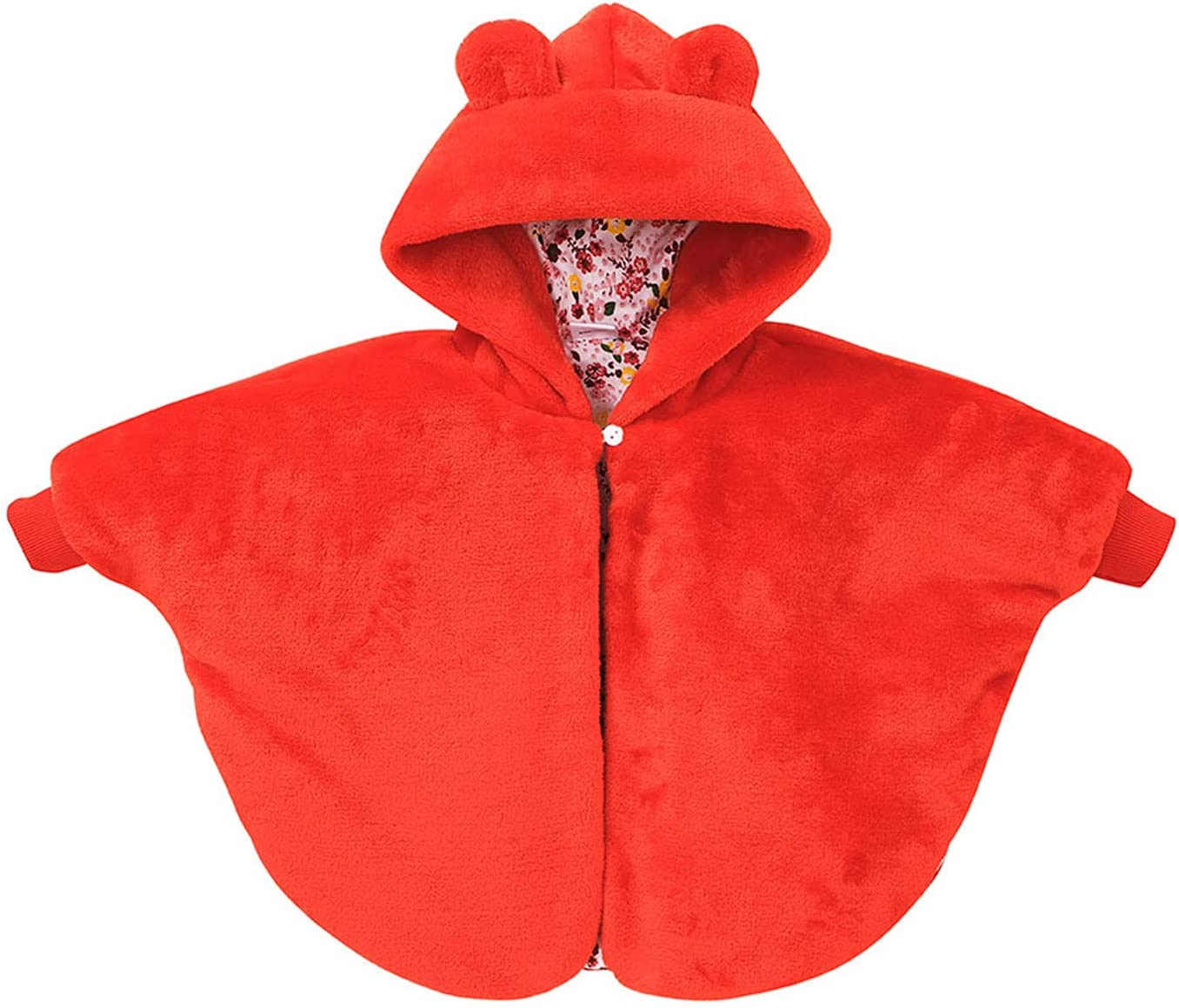 TIANMING SEAL limited product Infant Baby Girls Now on sale Fleece Cape Plush Coats Winter Cloak