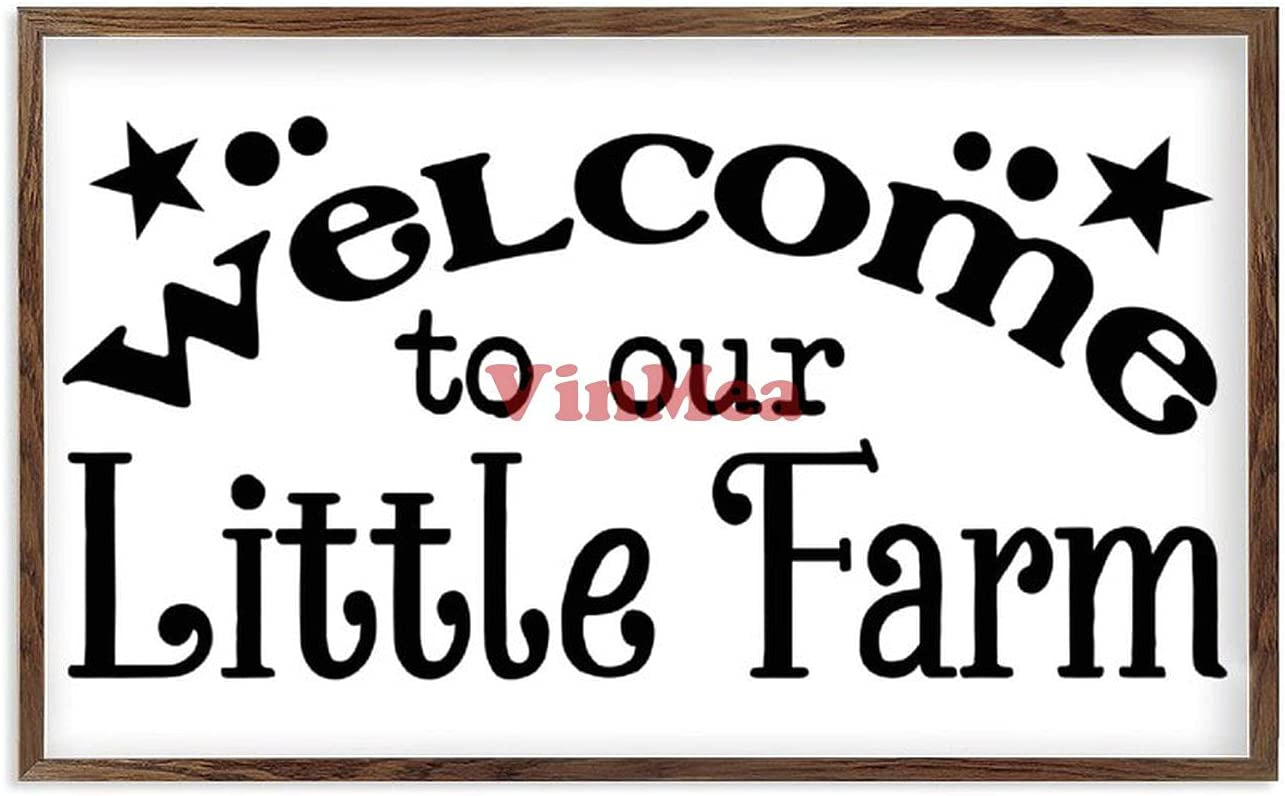 VinMea Framed Wood Sign 2021new shipping free Welcome to Home Farm depot Decor Little wi Our