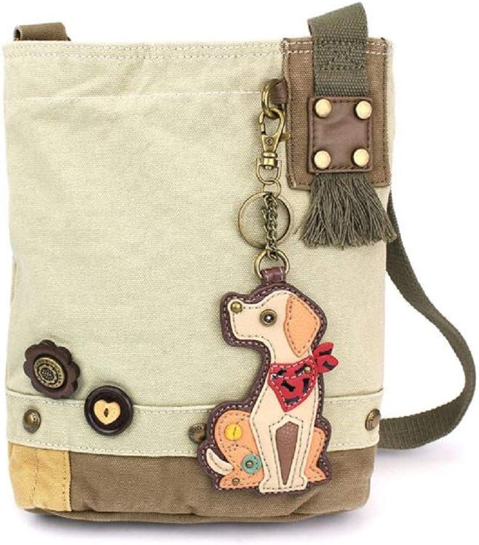 Chala Handbag Patch Crossbody Sand Light Brown Bag Canvas Dog Yellow Lab Labrador