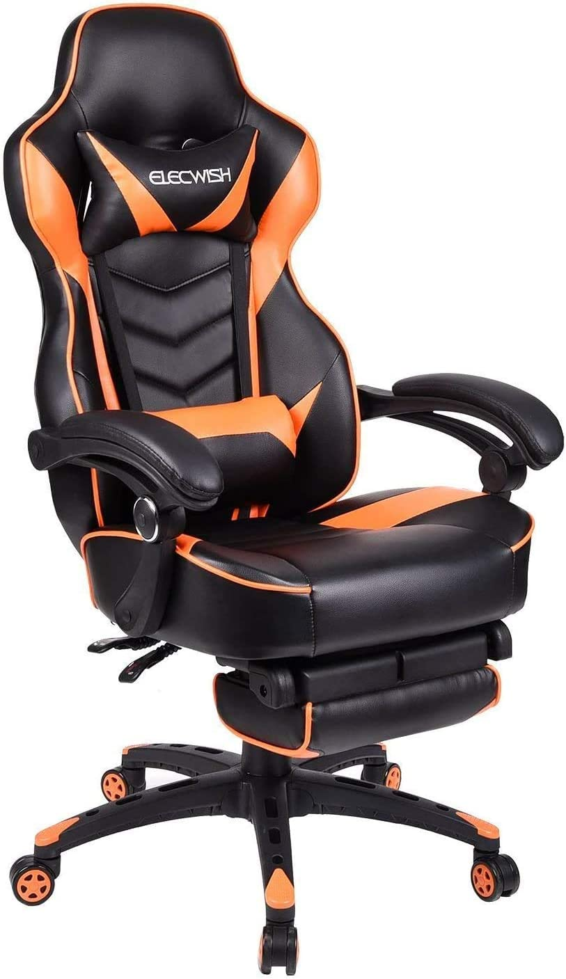 Video Gaming Chair Racing Max 43% OFF Office - Reclining High Leather PU Recommended Bac