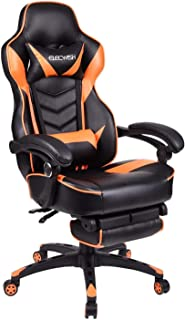 Video Gaming Chair Racing Office - Reclining PU Leather High Back Ergonomic Adjustable Swivel Executive Computer Desk Larg...