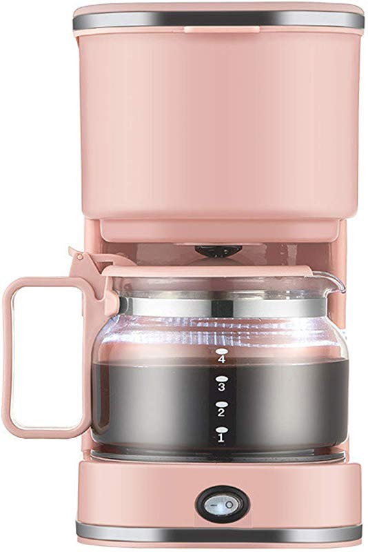 Portable Coffee Maker Automatic American Drip Coffee Machine Coffee Makers For Coffee And Tea For Home Use Pink