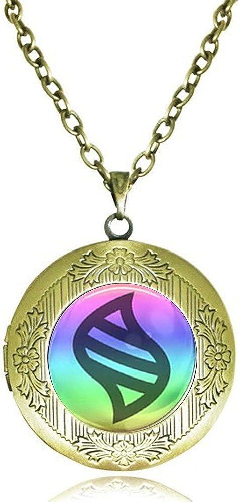 calhepco Game Ball Mega Stone Chain Locket Necklace Game Fashion Charm Can Insert Photo