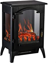 HYD-Parts 1500W Free Standing Retro Electric Space Heater,Fireplace with Quartz Infrared for Home Office (003)