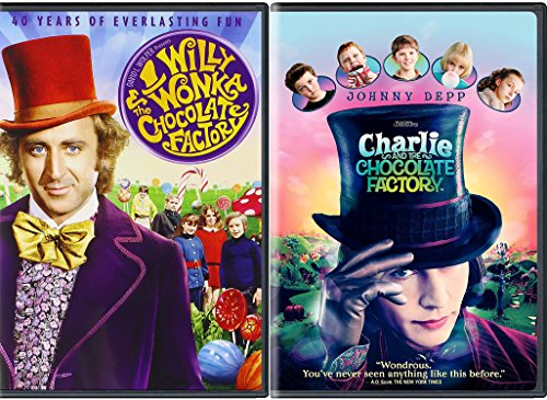 Willy Wonka & the Chocolate Factory Original + Charlie & The Chocolate Factory Tim Burton Johnny Depp Fantasy double feature set