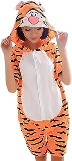 Lazutom Unisex Adult Summer Cartoon Animal One Piece Pajamas Cosplay Costume Sleepwear