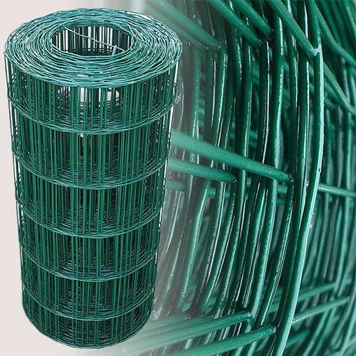 25 Meter Gartenzaun Grün Maschenweite 7,5 x 10 cm (60cm)