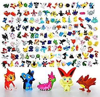 WOIA 24Pcs/Lot Cute Action Figures Mini Vinyl Dolls Pocket Monster Toy Set Party Supply Collection Birthday Toys for Children -Multicolor Complete Series Merchandise