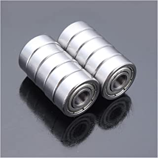 CJIANHUA 10pcs 5x14x5mm Steel Sealed Shielded Deep Groove Ball Bearing 605zz For Automobiles Machine Tools All New Never Used