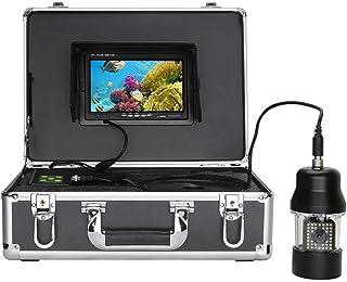 Fish Finders Buscador de Peces, Pantalla de 7 Pulgadas para Pesca en el océano/Hielo/Lago, 20pcs LED Blancos + 18pcs lámpa...