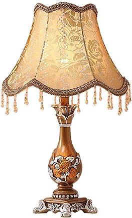 @テーブルランプ テーブルランプベッドルームシンプルな樹脂暖かい装飾的なベッドサイドランプ (色 : 電源スイッチボタン)