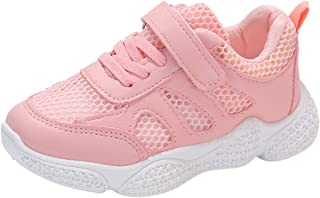 Tsmile Toddler Hook and Loop Sneaker Mesh Breathable Kids Baby Girls Boys Anti-Skid Sports Run School Casual Shoes