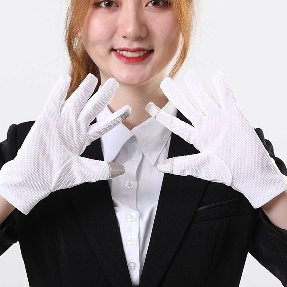 UimimiU Men/Women Black White Etiquette Gloves Sunscreen UV Gloves Car Driving Gloves Check Work Gloves Celebration Ceremony Ceremonial Jewelry Mitten (Color : White(Man))