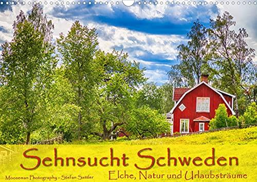 Sehnsucht Schweden - Elche, Natur und Urlaubsträume (Wandkalender 2022 DIN A3 quer) [Calendar] Sattler, Stefan