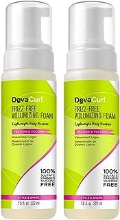 DevaCurl Frizz-Free Volumizing Texture Foam, 7.5 Ounce, 2-Pack