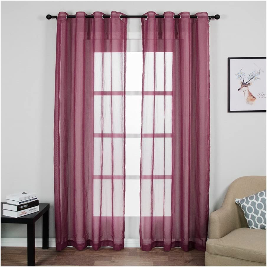 SFQRYP Modern Soild White Sheer Our shop most popular Special price Bedroom for Voile Curtains Tulle