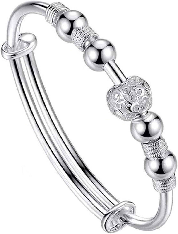 Hollow Bead Charm Bracelet Bangle Fashion Adjustable Party Jewelry Gift for Women Men Girls Boys