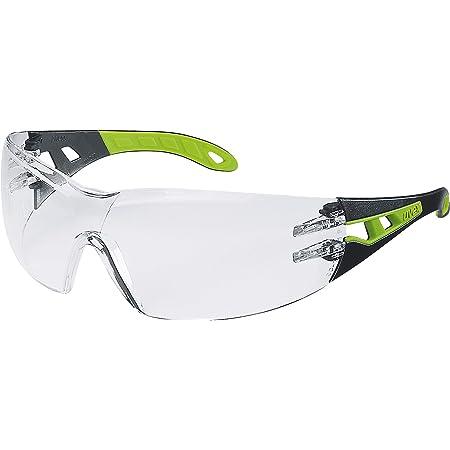 Uvex Occhiali Protettivi Pheos | Lenti PC Incolore | Protezione UV 400 | NF EN 166 170 | Lenti Interne Antiappannanti | Lenti Esterne Antigraffio e Resistenti Alle Sostanze Chimiche