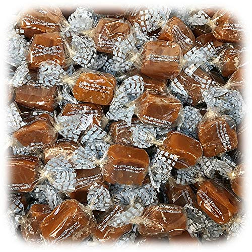AvenueSweets - Handcrafted Individually Wrapped Soft Caramels - 5 lb Box - Sea Salt