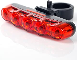 Bike Rear Light Waterproof Warning Safety Tail Light - Super Bright Bicycle Back Lamp for Mountain Bike, Any Road Bike - Easy to Install