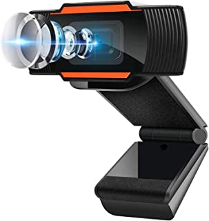 1080P HD Cámara Web, MTQ Webcam PC con Microfono, Cámara de Computadora USB con Micrófono Dual Integrado para PC Mac Portá...