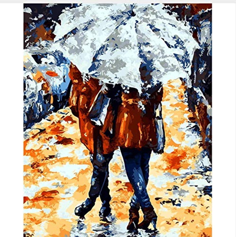 CZYYOU DIY Regnerischen Tag Arcylic Malen Nach Zahlen Auf Leinwand Wandbilder Kunst Für Wohnzimmer Home Decoration, Ohne Rahmen, 50x60cm B07Q4JR65D | Adoptieren