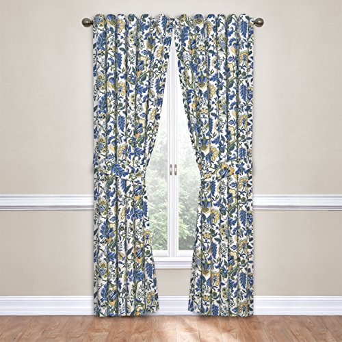 "WAVERLY Curtains for Bedroom - Imperial Dress 52"" x 84"" Decorative Single Panel Rod Pocket Window Treatment Privacy Curtains for Living Room, Porcelain"