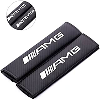 Altopcar Seat Belt Cover, Spec-R///AMG Carbon Fiber Seat Belt Shoulder Pad Cushion - 1 pair