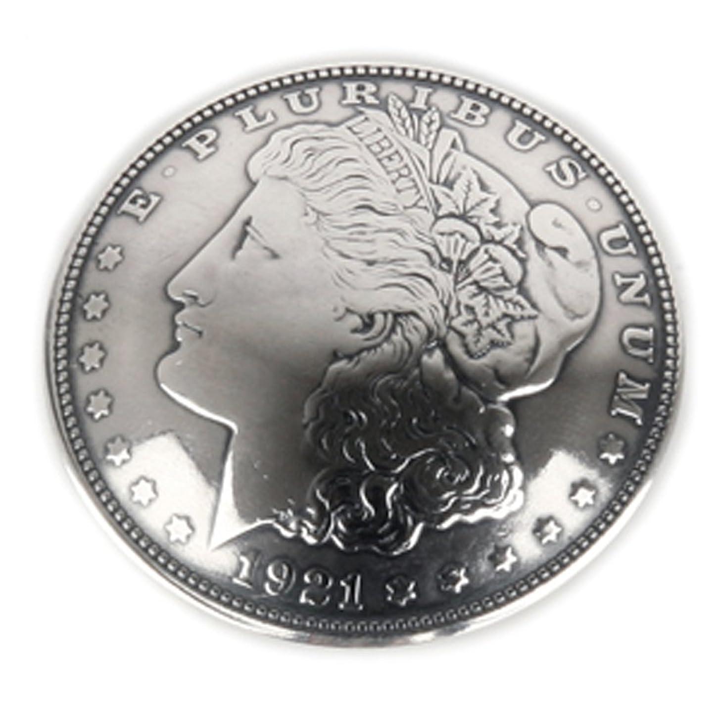 ずんぐりした静的北米オールドコイン 本物 シルバー パーツ カスタム : USAアンティーク 1ドルコンチョ【モルガン】