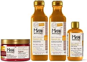 Maui Moisture Shampoo & Conditioner Curl Quench + Coconut Oil 19.5oz, Maui Moisture Coconut Oil Curl Milk 8oz, Maui Moisture Agave Hair Mask 12oz Jar