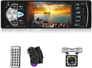 "Multimedia Car Stereo Single Din Car Radio 4.1"" Digital TFT Screen Bluetooth Audio and Hands-Free Calling FM Radio Receive..."