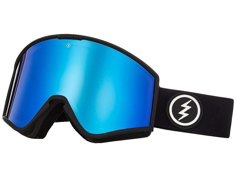 Electric Eyewear Kleveland (Matte Black Brose/Blue Chrome) Athletic Performance Sport Sunglasses