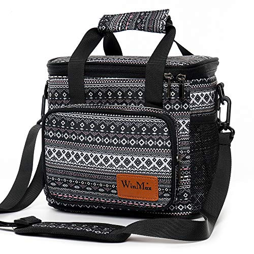 winmax Sac de Repas Isotherme Sac à Lunch Pique-Nique Sac Fraîcheur Lunch Bag Portable pour Homme et Femme Travail Ecole Voyage Camping Repas Préparés