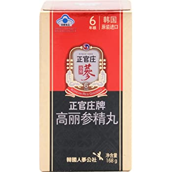 韓国紅参ブランド『正官庄』(6年高麗人参)紅参精丸168g(800丸入り)