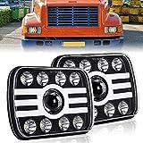 CO LIGHT 2pcs 2020 New 5x7 Inch LED Headlights 116W 7x6'' Sealed Beam Angel Eye DRL Handlamp for Jeep Wrangler YJ XJ Cherokee H6054 H5054 H6052 H6053