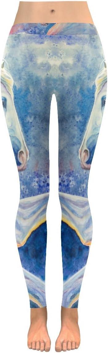 InterestPrint Leggings All-Over Low Rise Leggings Horse Skinny Pants for Yoga Running Gym(2XS-5XL)