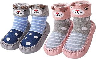 Calcetines para Bebés Niña Niño Anti Deslizante Zapatillas Primera Infancia