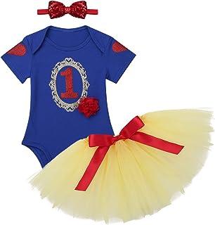 1ab943c554b5a iiniim Bébé Fille Déguisements Blanche Neige Princesse Costume Noël  Carnaval Robe Anniversaire Fête Barboteuses Manche Courte