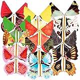 Magix Star Party-Scherzartikel: Scherzartikel Flatternder Schock-Schmetterling, 12er-Set (Party-Gag) -