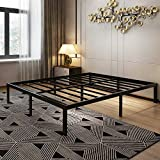 45MinST 14 Inch Platform Bed Frame/Easy Assembly Mattress Foundation / 3000lbs Heavy Duty Steel Slat/Noise Free/No Box Spring Needed, Queen
